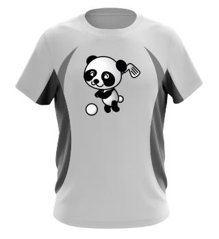 Golfspielender Panda