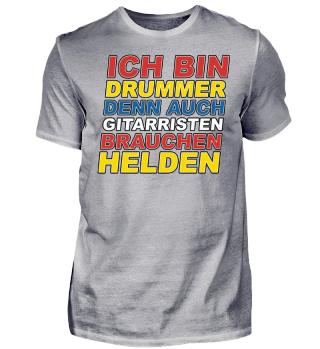 Ich Bin Drummer - Schlagzeug T-Shirt