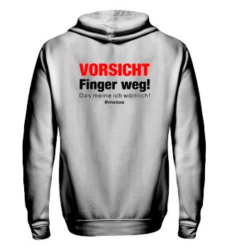 #metoo - VORSICHT Finger weg back print