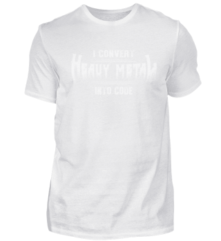 Convert Heavy Metal Into Code T-Shirt