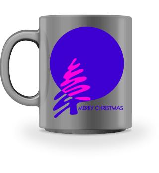 Merry Christmas - stylish purple pink