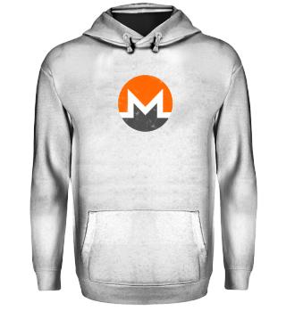 Monero Hoodie (XMR) - Logo Used Look