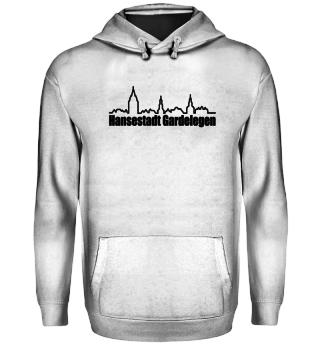 Hoodie mit Skyline Gardelegen/schwarz