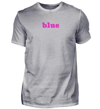 blue / pink T-shirt - Geschenkidee