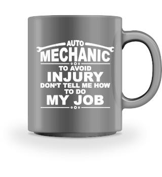 AUTO MECHANIC - WARNING