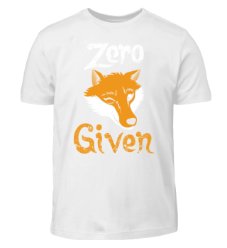 Zero Fox Given - wordplay pun apathy