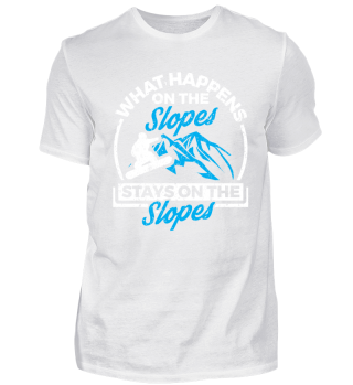 Funny Snowboard Shirt What Happens On