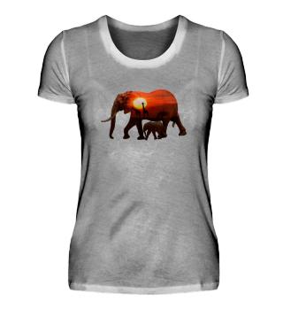 Dickhäuter Geschenk Shirt Afrika