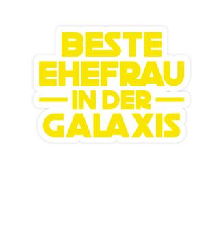 Aufkleber Ehefrau: Beste Frau der Galaxi