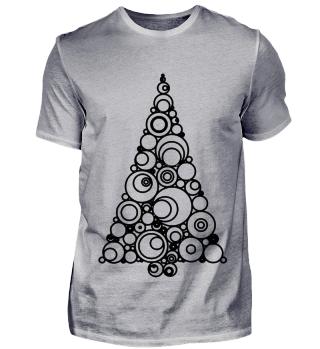 Moderner Weihnachtsbaum zum Ausmalen