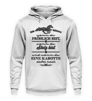 Pferd und Karotte - schwarze Edition