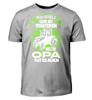 Kinder Shirts - Opa Traktor spielen