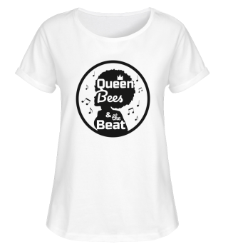 Queen Bees Roll-Up Shirt weiß