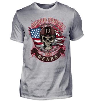 Herren Kurzarm T-Shirt Blood Sweat Ramirez