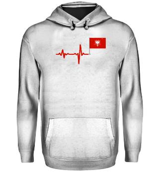 Heartbeat Albania flag gift