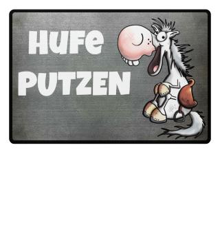 Hufe putzen - Pferd - Pony - Fussmatte