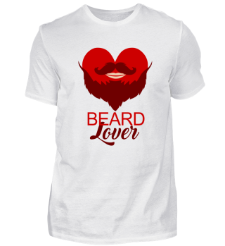 Beard lover beard shirts tee heart