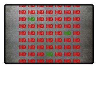 HO HO HO - red green grunge pattern