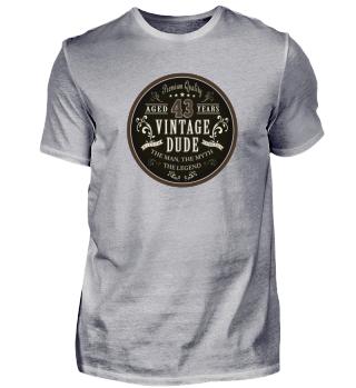 43rd Birthday Vintage T-Shirt Gift