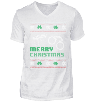 Police Policeman Shirt Merry Christmas