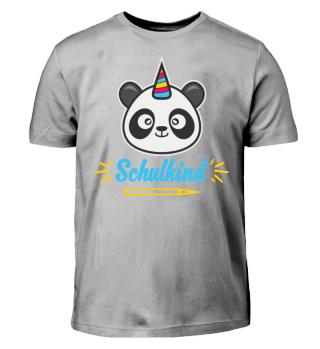 Einschulung Panda Schulkind Geschenk