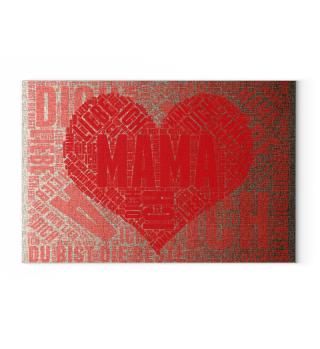 Geschenkidee - Muttertag Leinwand
