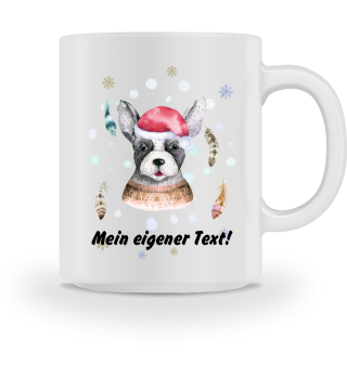 ☛ Merry Christmas · Boho Dog #8CPT