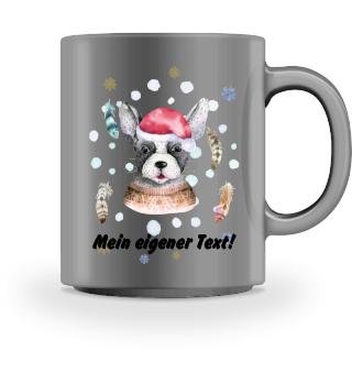 ☛ Merry Christmas · Boho Dog #8CPT