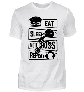 Eat Sleep Motocross Repeat - Stunt Dirt