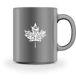 Kaffee-Tasse Kanada Ahornblatt spezial
