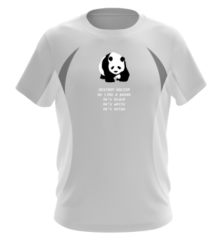 Panda Destroy Racism Gegen Rassismus