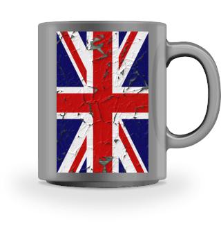 United Kingdom grunge Flag vertical III