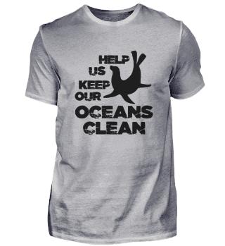 Ayúdanos a mantener limpio el océano.