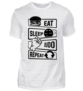 Eat Sleep Judo Repeat - Martial Arts