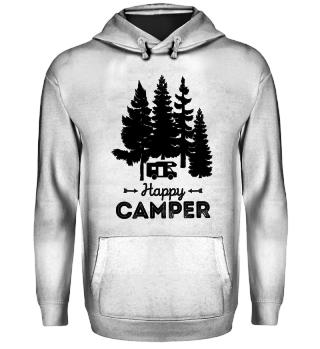 Happy Camper Hoodie Wald Bäume