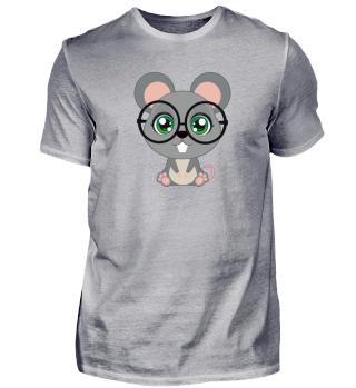 Shirt Rat Glasses Ratte Brille süß cute