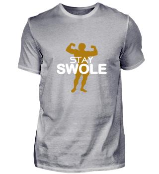 Fitness Gift Train Shirt Gym Swole Tee