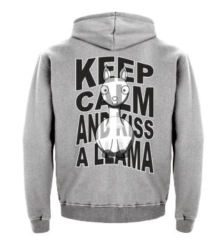 ♥ Funny KEEP CALM And Kiss A Llama