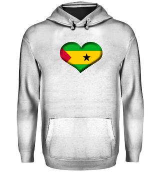 São Tomé und Príncipe Herz Flagge