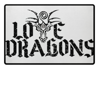 Love Dragons - black grunge Fußmatte