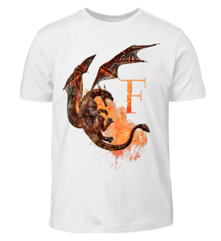 Drachen Buchstabe F (Kinder T-Shirt)