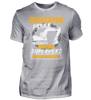 Excavator driver - Superhero