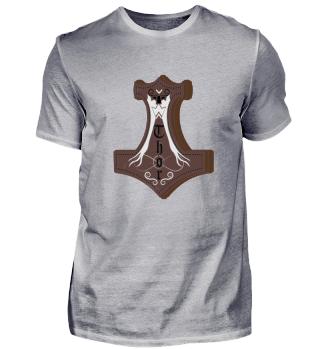 thor hammer viking metal shirt odin