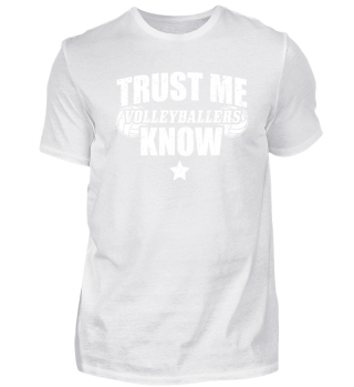Funny Volleyball Shirt Trust Me