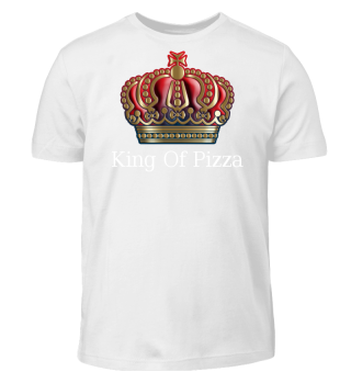 Royal Cross Crown - Gold Blue Red - Text
