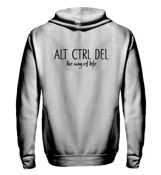 ALT CTRL DEL - the way of life - black