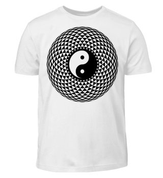 Yin Yang Triangle Mandala - black