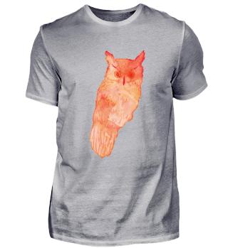 Owl - aquarelle watercolour style