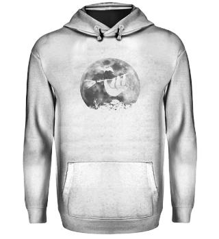 Sloth Witch Broom Halloween Moon Gift