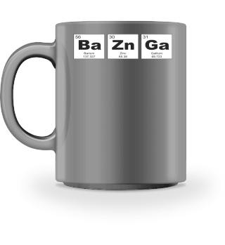 Chemical Elements BaZnGa black